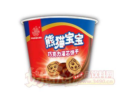 熊猫草莓口味饼干桶装