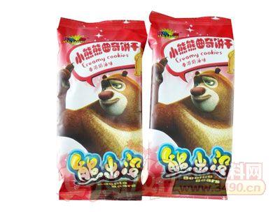 熊出没小熊熊曲奇饼干香浓奶油味