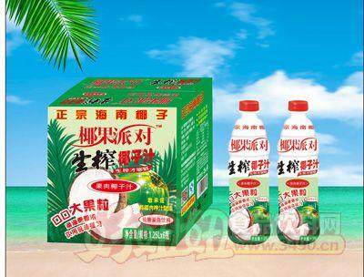 椰果派对生榨椰子汁1.25Lx6