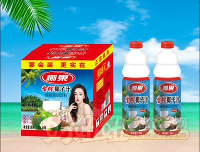 椰果生榨椰子汁1.25Lx6