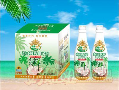 椰果时代泰式鲜榨椰子汁1.25Lx6