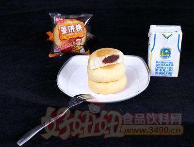 开口福金饼侠红豆馅面包散装展示