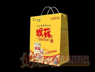 猴菇养生粥黄色包装