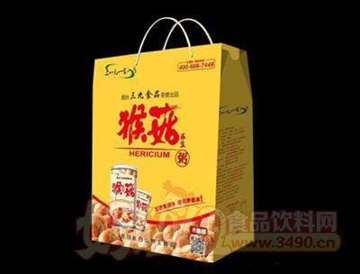 猴菇养生粥黄色包装木糖醇