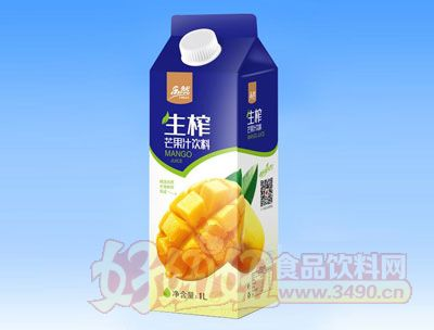 乐然-生榨芒果汁饮料1L