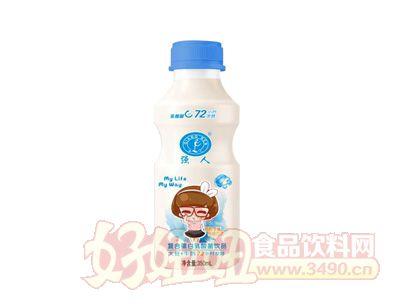强人大豆加牛奶复合蛋乳酸菌饮品350ml