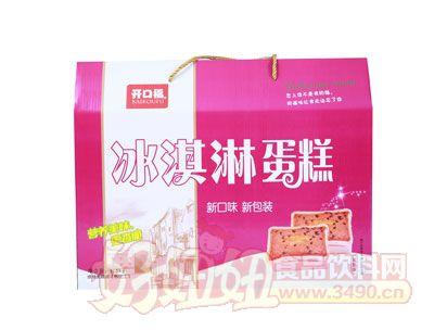 开口福菠萝味冰淇淋蛋糕1.5千克