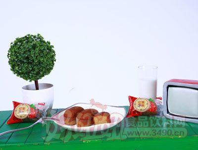 开口福红枣蛋糕展示
