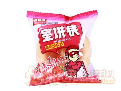 开口福金饼侠草莓馅面包袋装