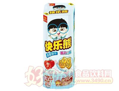 谷部一族快乐熊造型饼干番茄口味49g
