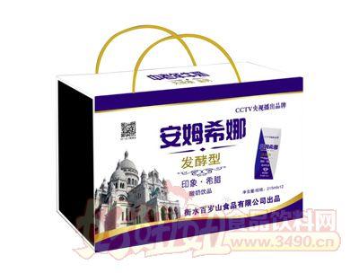 百岁山发酵型安姆希娜酸奶饮品215ml×12(木盒)