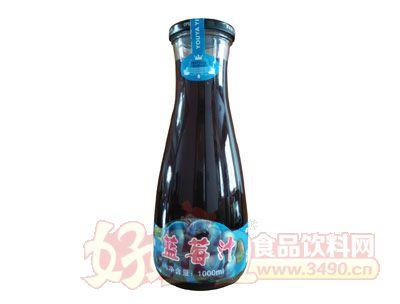 悠雅蓝莓汁1000ml