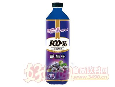 晨铭蓝莓汁饮料1L
