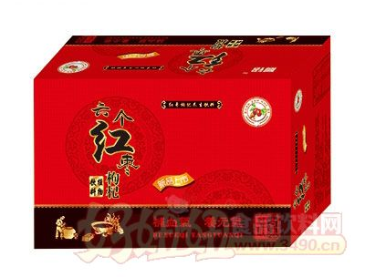 晨铭六个红枣枸杞植物饮料箱