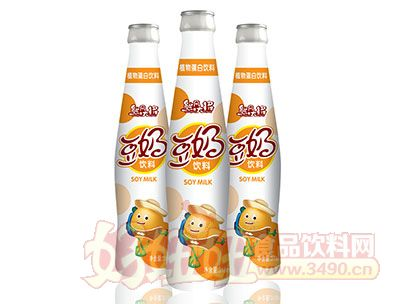 熊风大将豆奶饮料PE瓶318ml