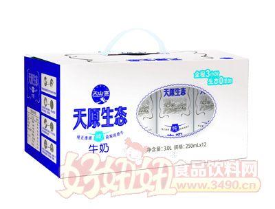天山雪天原生态纯牛奶250ml×12