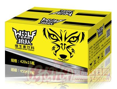 狼队维生素饮料420ml×15瓶(黄)