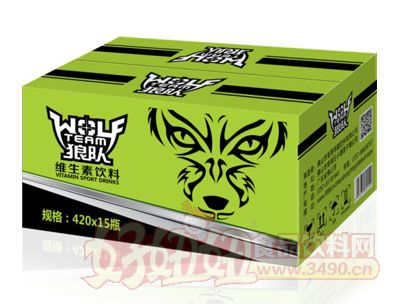 狼队维生素饮料420ml×15瓶(绿)