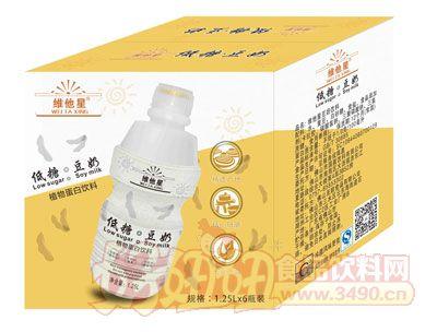 维他星低糖豆奶1.25L×6瓶