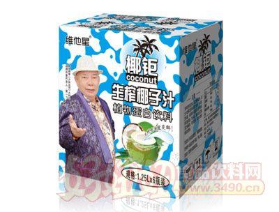 椰钜生榨椰子汁植物蛋白饮料1.25L×6瓶