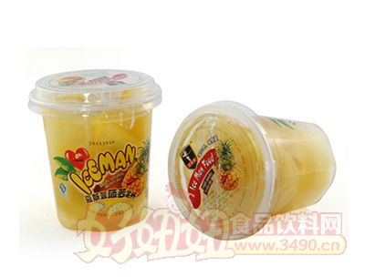 艾斯曼227g菠萝果杯罐头