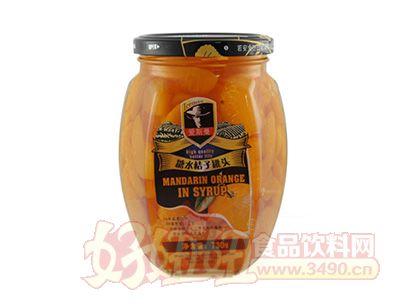 艾斯曼730g糖水桔子罐头