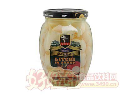 艾斯曼730g糖水荔枝罐头