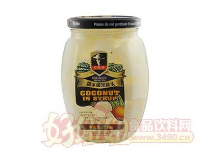 艾斯曼730g糖水椰果罐头