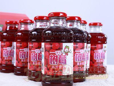 350ml树莓果汁饮料特写