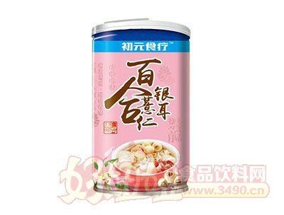初元食疗木糖醇百合薏仁银耳八宝粥罐装
