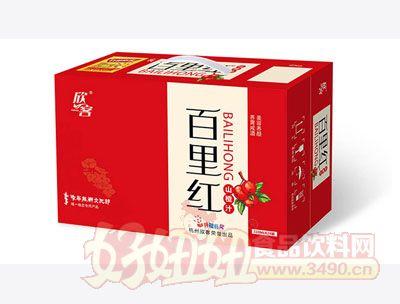 百里红山楂汁手提箱310ml×24罐