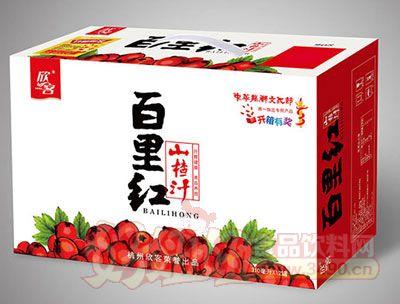 百里红山楂汁手提箱310ml×12罐