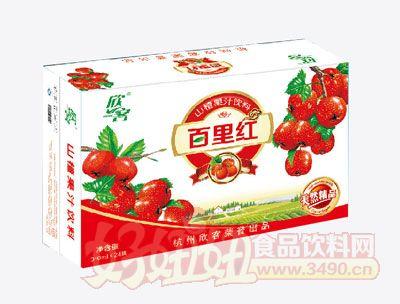 百里红山楂汁长箱310ml×24罐