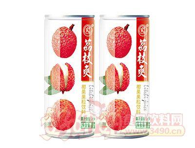 雨瑞荔枝爽椰果果粒饮料240ml白罐