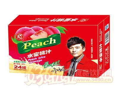 雨瑞水蜜桃汁饮料245ml×24罐