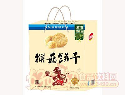 青岛达利园猴菇饼干手提礼盒(无蔗糖)