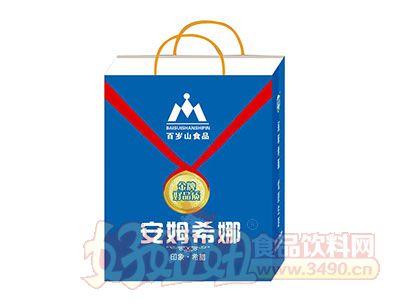 百岁山发酵型安姆希娜乳酸菌饮品215ml×12(钻石包装)手提袋