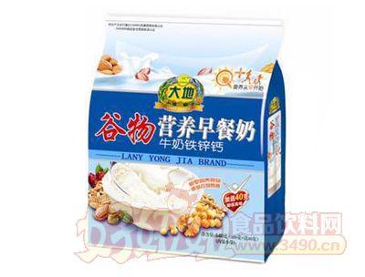 大地谷物牛奶铁锌钙营养早餐奶