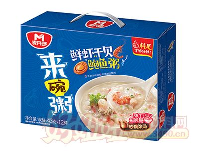 麦丹郎鲜虾干贝鲍鱼粥礼盒