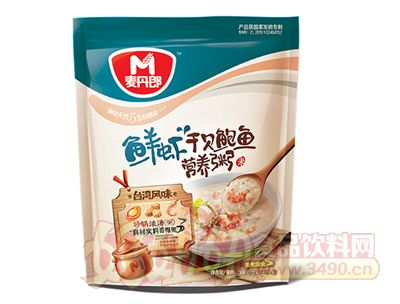麦丹郎鲜虾干贝鲍鱼营养粥
