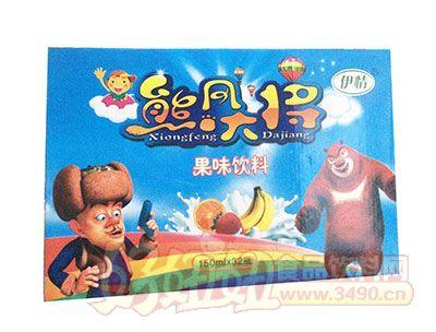 老厂产品-伊情熊风大将果味饮料150ml×32瓶