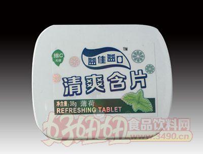 益佳益口小铁盒薄荷味清爽含片润喉糖38g