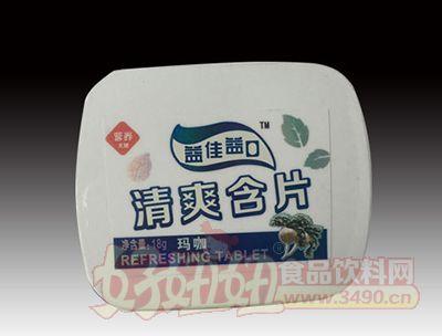 益佳益口小铁盒玛卡味清爽含片润喉糖38g