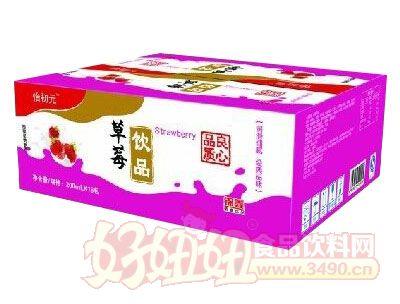怡初元草莓饮品箱装200ml×16袋
