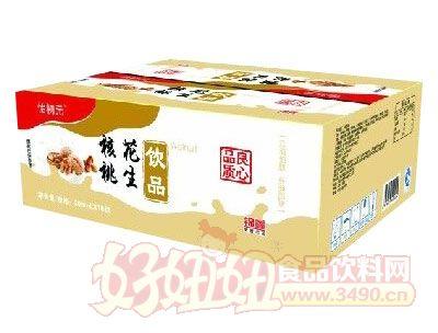 怡初元核桃花生饮品盒装200ml×16袋