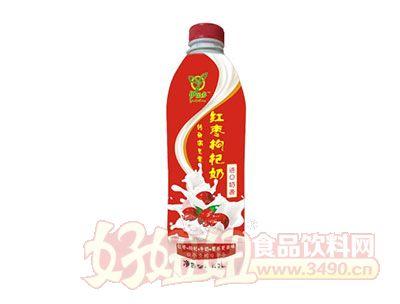 伊乐多红枣枸杞奶进口奶源1.5L