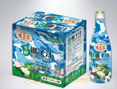 臻美乐迷彩生榨椰子汁1.25L×6瓶