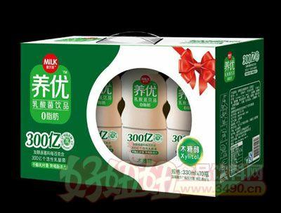 麦尔克养优乳酸菌饮品木糖醇味330ml×10瓶