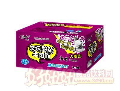 1x12桶京�x老��酸菜牛肉面