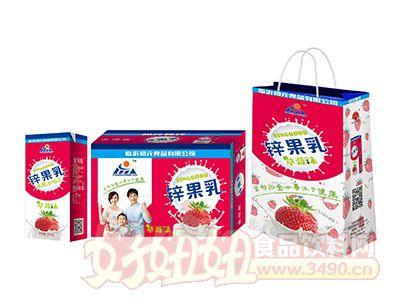 初元食疗草莓味锌果乳饮品